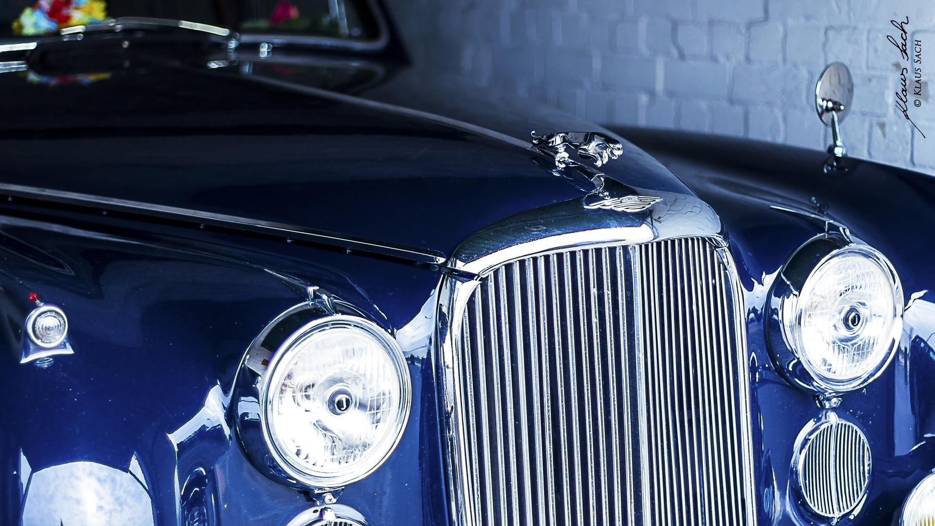 Ein alter Jaguar in einer Blankeneser Garage ...
