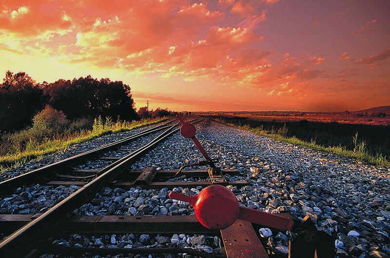 Ein alter Schienenstrang im Abendlicht...