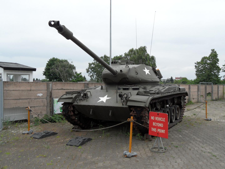 Ein amerikanischer Panzer in Berlin