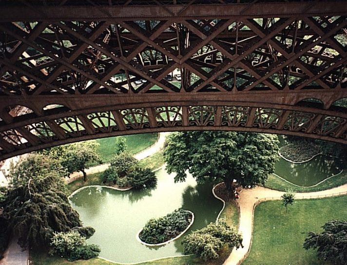 Ein anderer Blick vom Eiffelturm in Paris