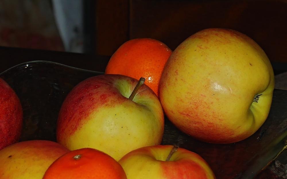 ein Apfel am Morgen