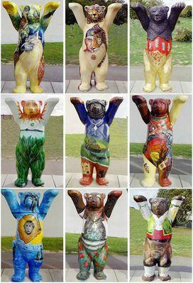 Ein Ausschnitt der Berliner Bären