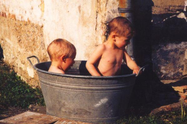 Ein Bad im Freien