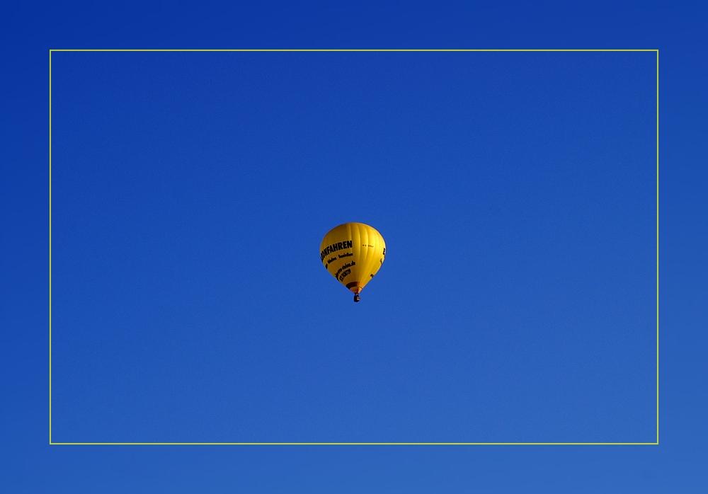 Ein Ballon macht noch lange keinen Sommer...