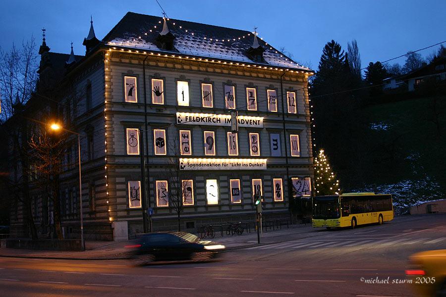 ein besonderer adventskalender in Feldkirch/Austria