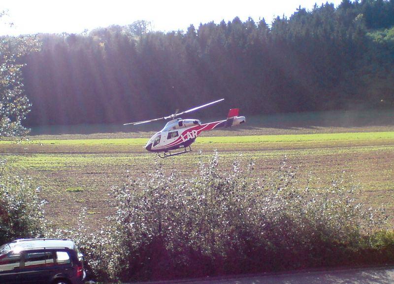 Ein Besucher fliegt davon (Air Rescue 3 - Luxembourg)
