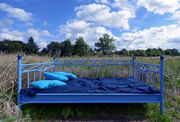 Ein Bett im Kornfeld :-)