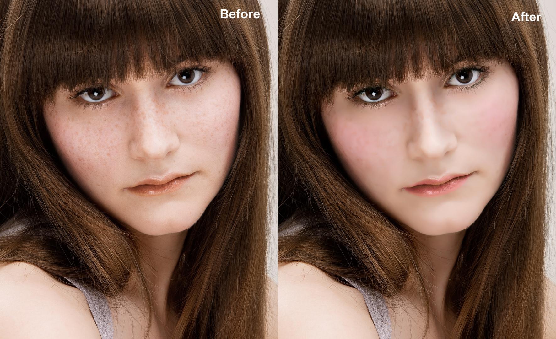 Ein bisschen Retusche und Make-up