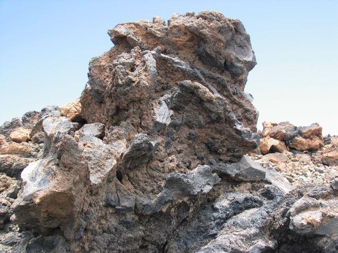 Ein bizzarer Felsen am Teide