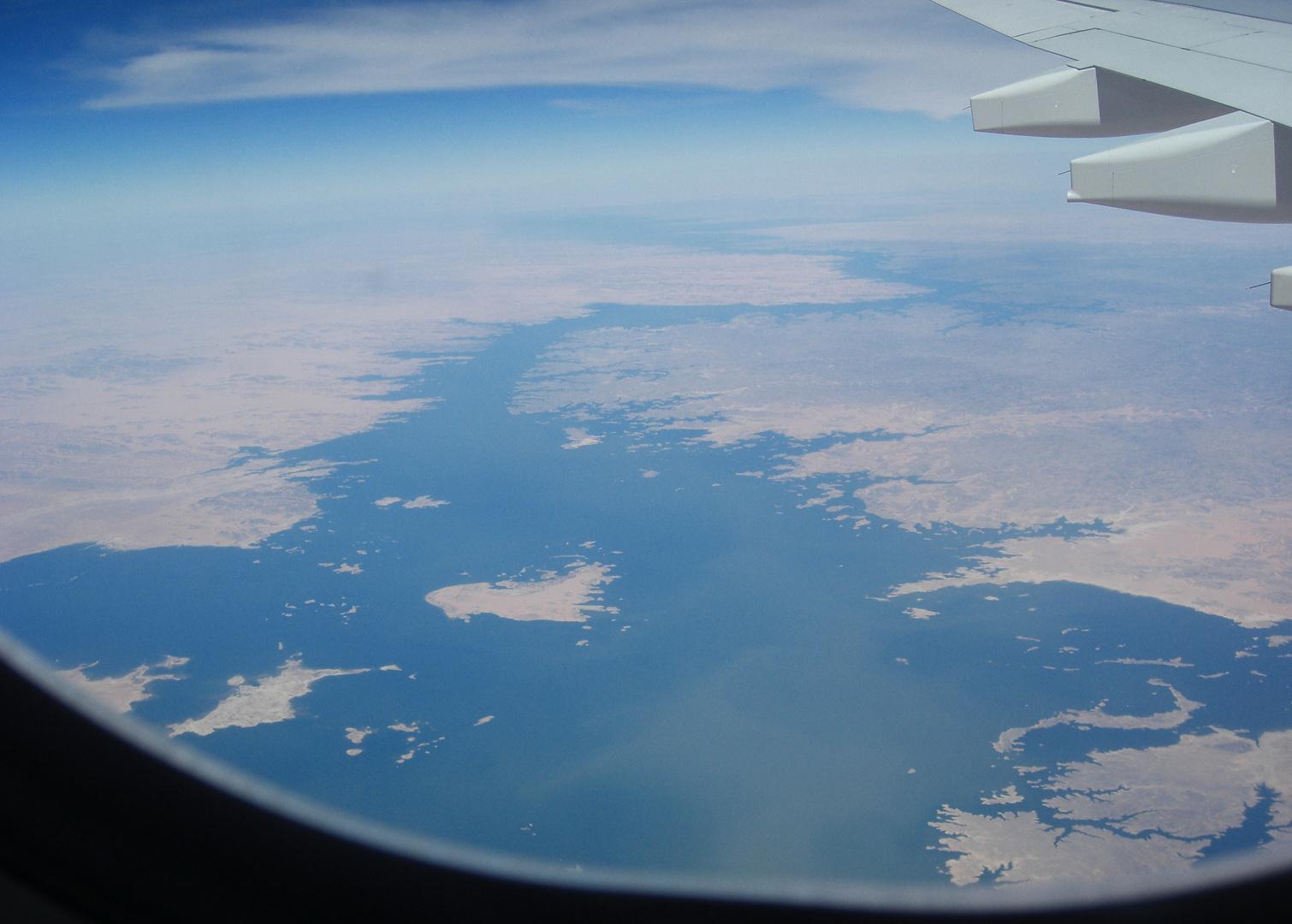 ein Blick auf den gigantischen Nil - aufgenommen aus ......