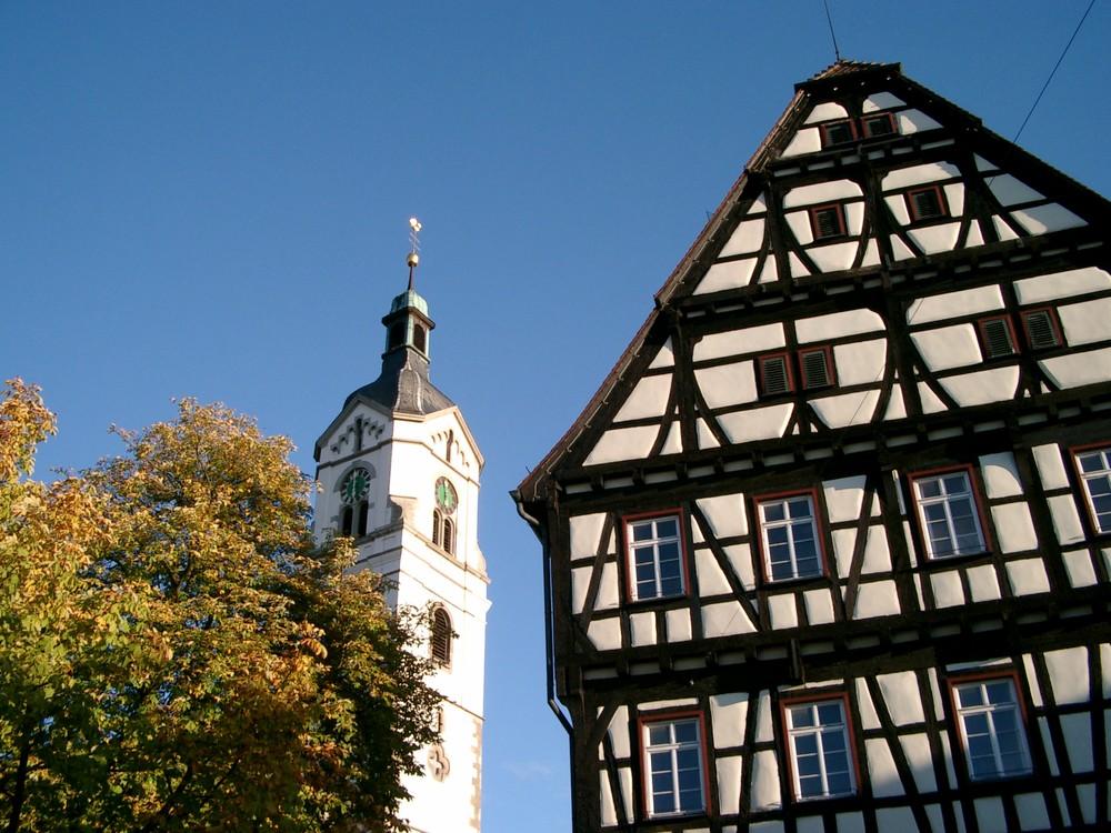 ein blick auf die kirche in neuhausen auf den fildern foto bild architektur l ndliche. Black Bedroom Furniture Sets. Home Design Ideas