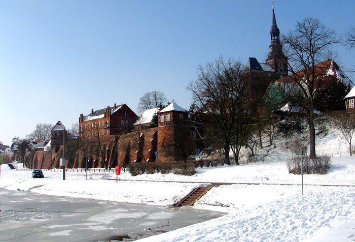 Ein blick auf dieTangermünder Altstadt