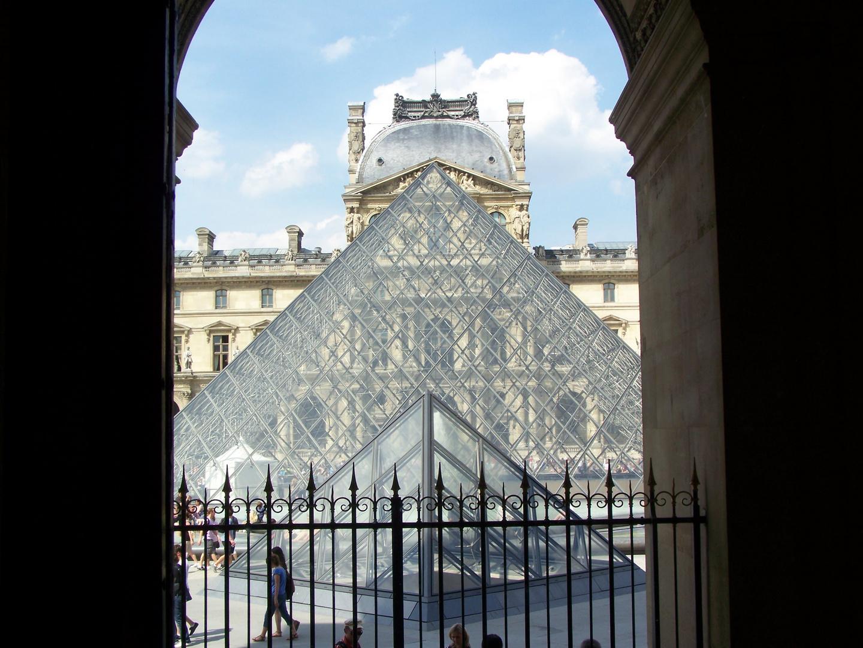 Ein Blick aus dem Louvre