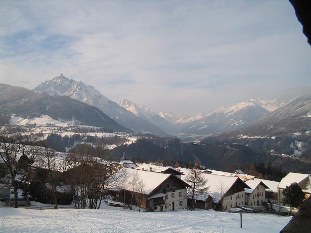 ein Blick aus unsrem Hotel im Winter 2005