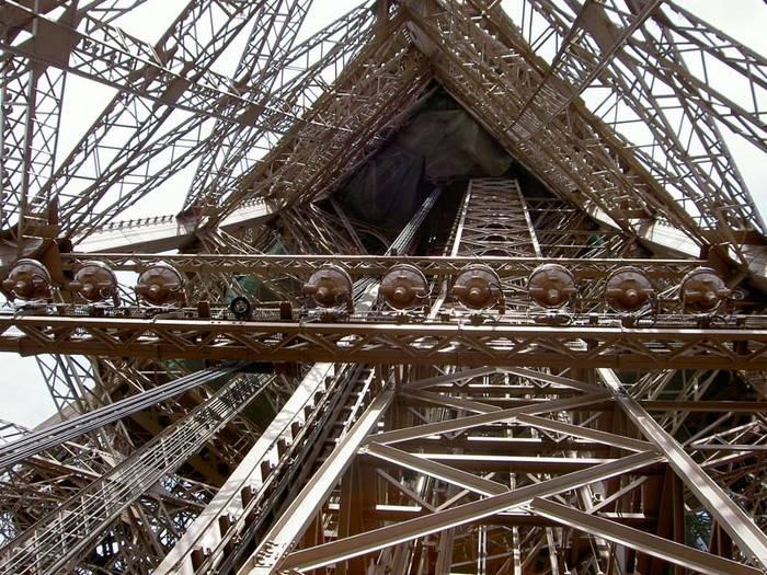 Ein Blick in den Eiffelturm