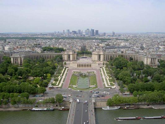 Ein Blick vom Eiffel