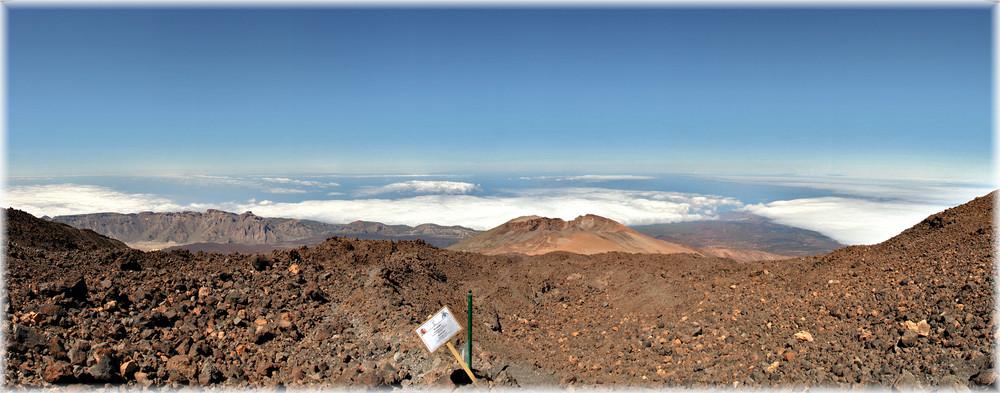Ein Blick vom Vulkan Teide