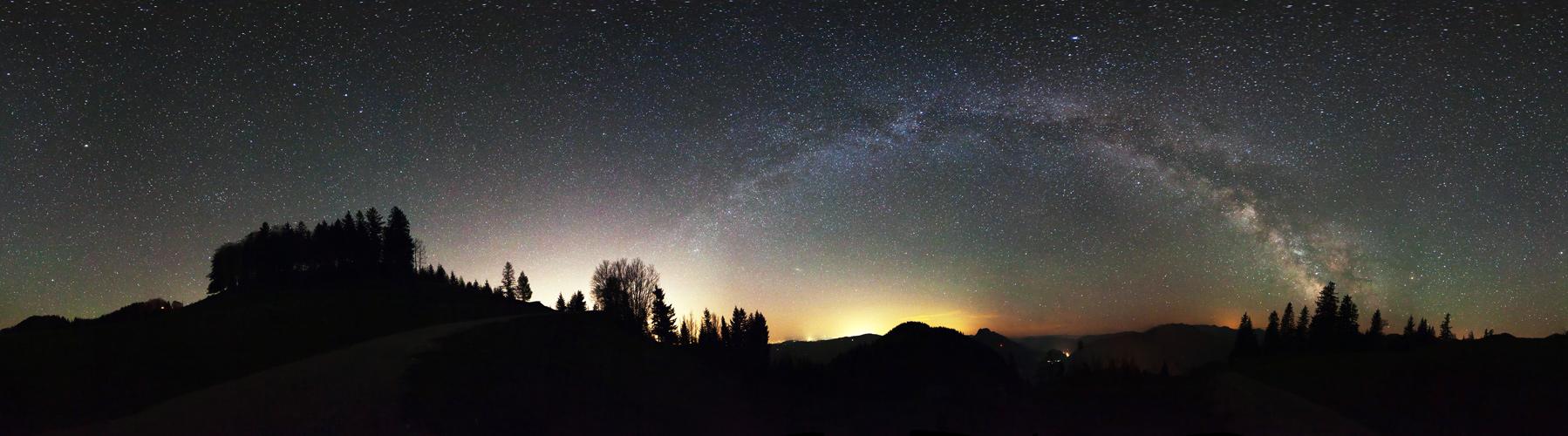 Ein Bogen aus Sternen bedroht durch die Zivilisation?