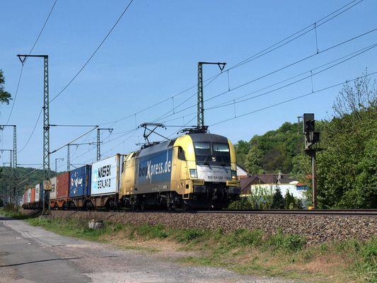 Ein BOXpress zug durch Eisenach