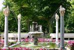 Ein Brunnen im Schloßpark von Aranjuez