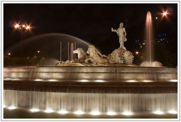 Ein Brunnen in Madrid