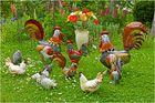 Ein bunter Hühnerhof, gesehen in Keitum Sylt.