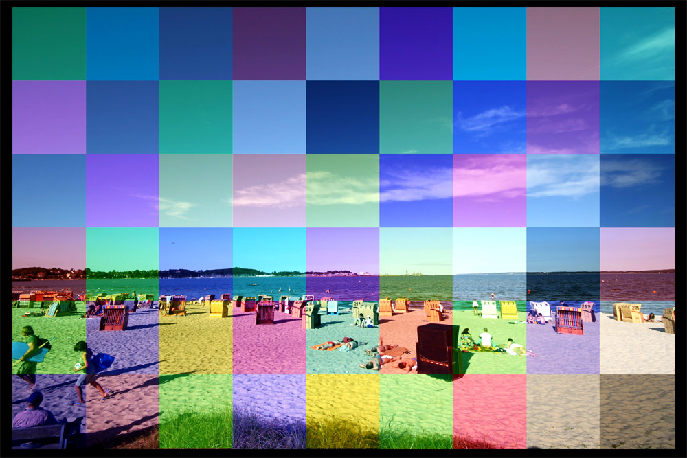 ein bunter tag am strand