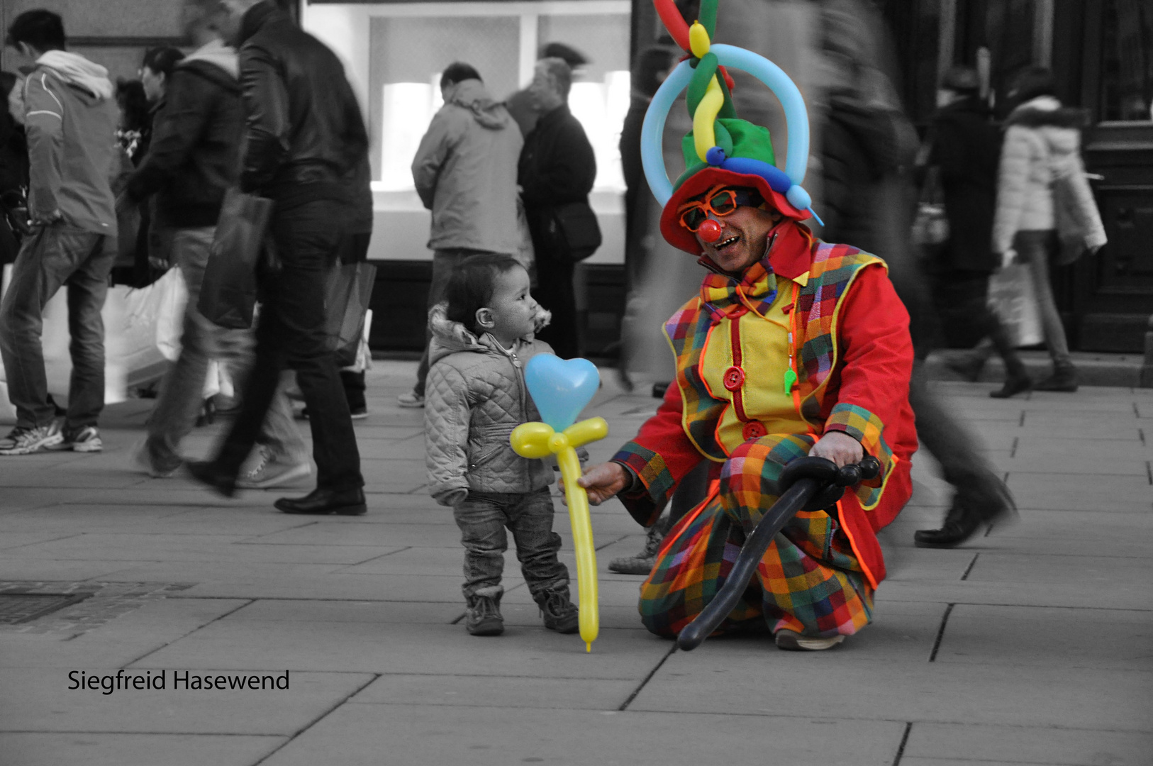 ein Clown bringt Farbe ins Leben