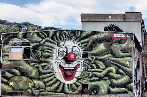 Ein Clown in Wuppertal