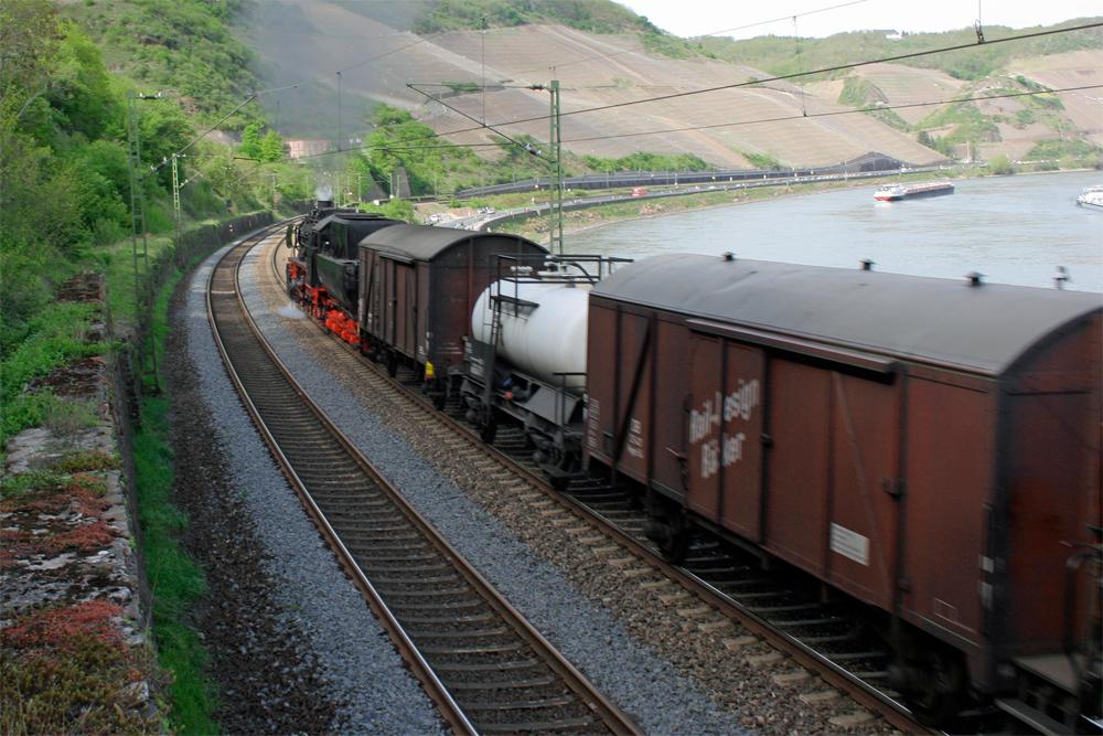 Ein Dampfgüterzug....