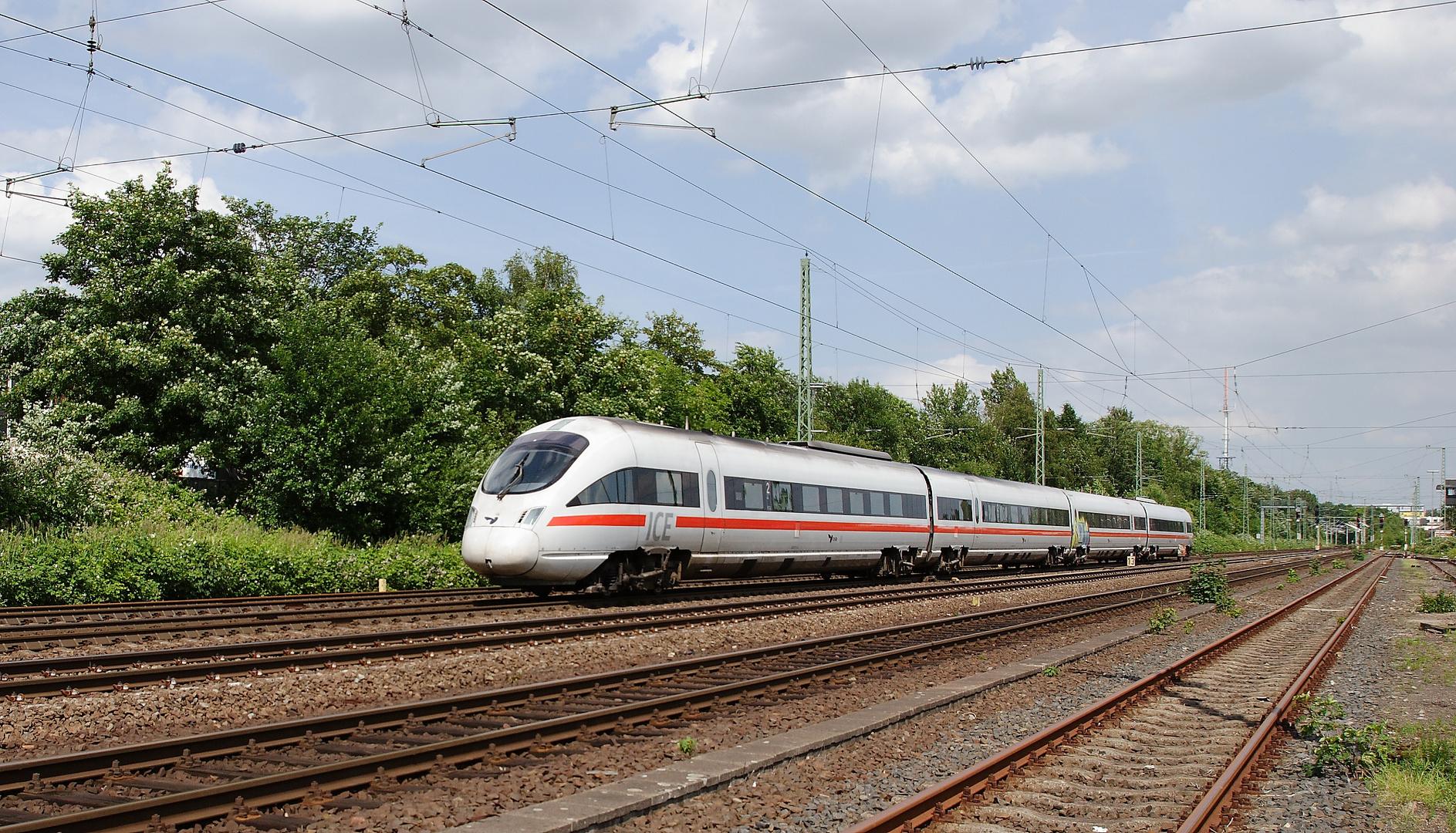 Ein Diesel-ICE auf dem Weg nach Kopenhagen
