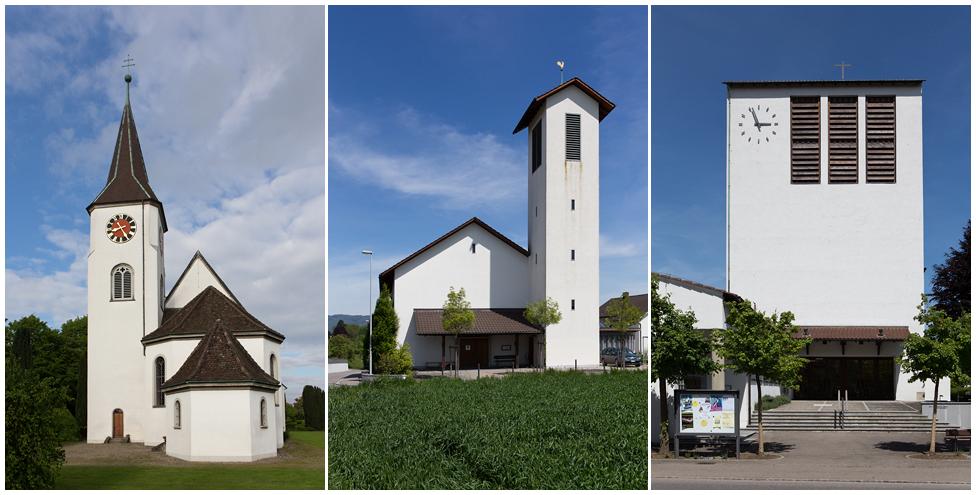 Ein Dorf - drei Kirchen