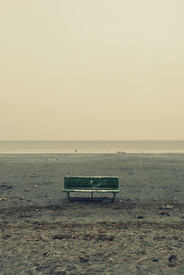 Ein einsamer, kalter Tag im März