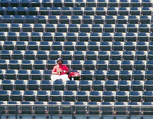 Ein einsammer Fan