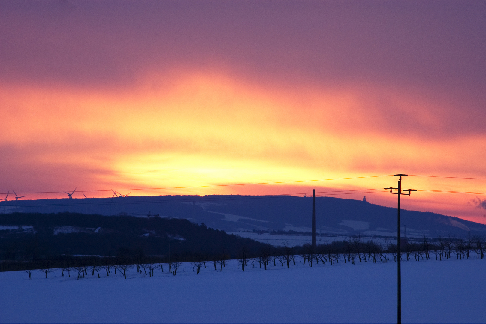 Ein eiskalter Sonnenaufgang...