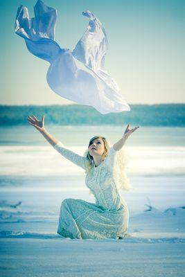 ein Engel im Schnee . . .
