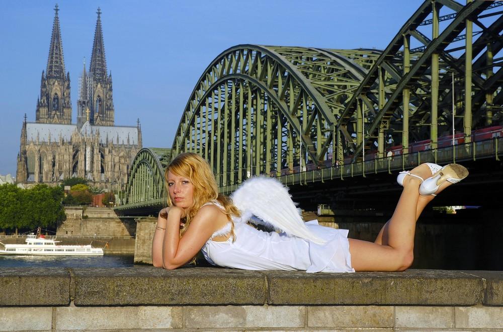 Ein Engel zu Besuch in Köln