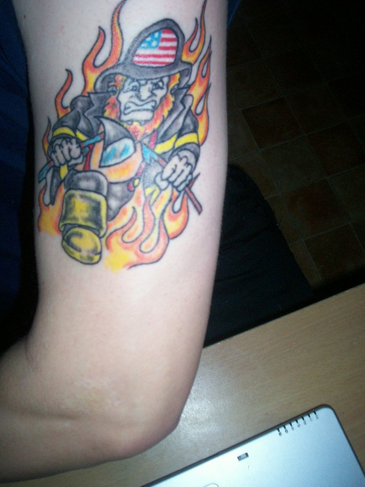 Ein Feuerwehrmann hat sich verlaufen....