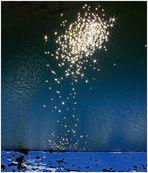Ein Feuerwerk der tanzenden Sterne