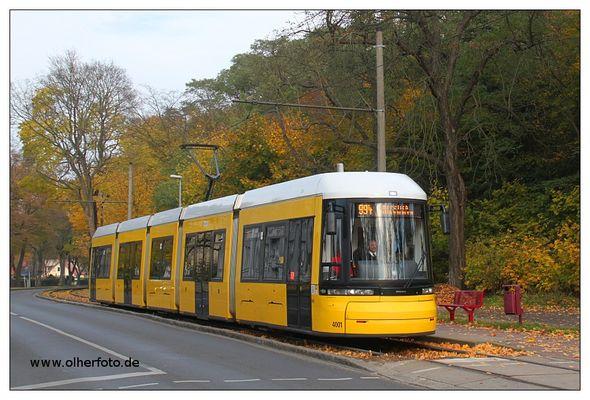 Ein Flexity in Strausberg