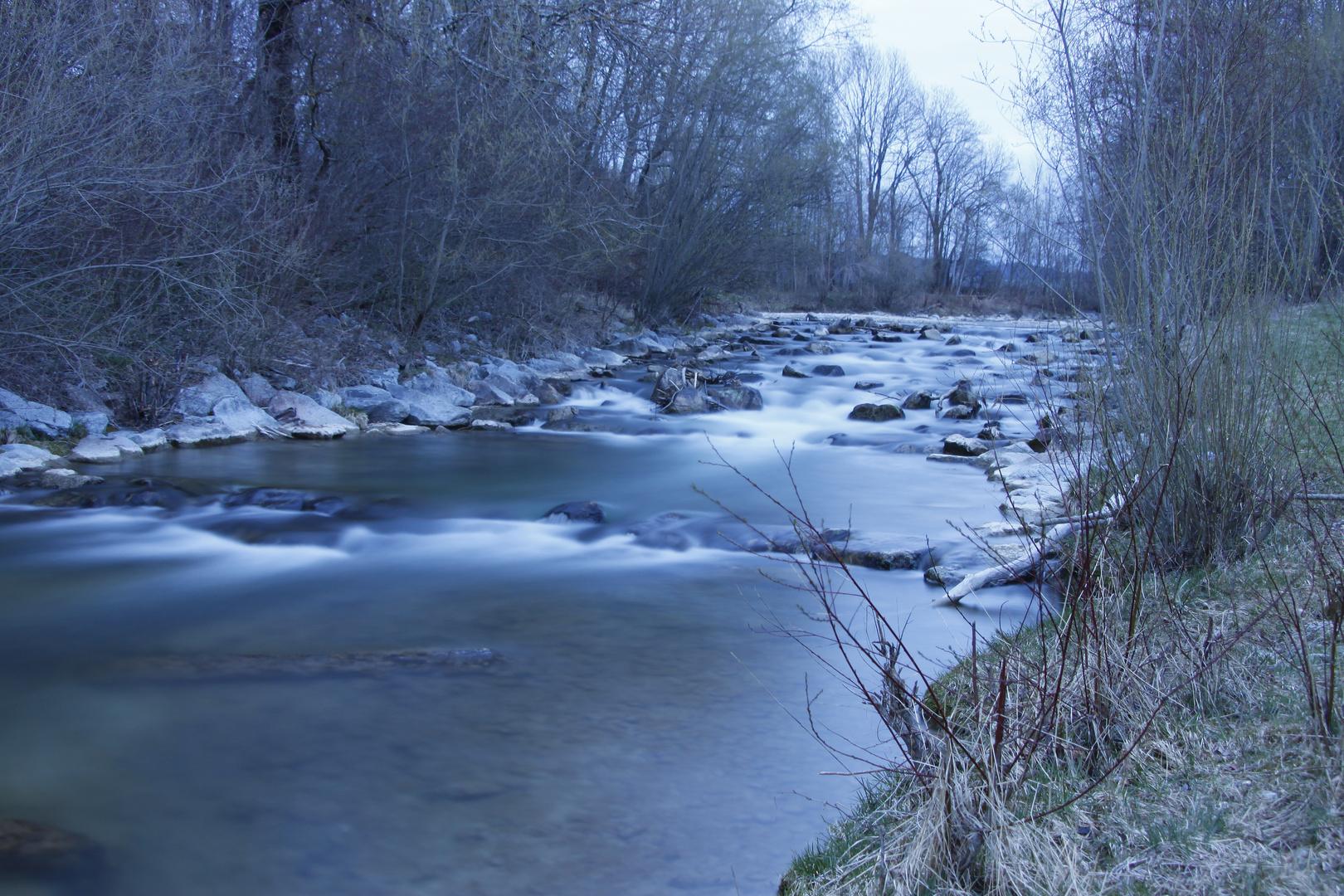 Ein Fluss aus seide
