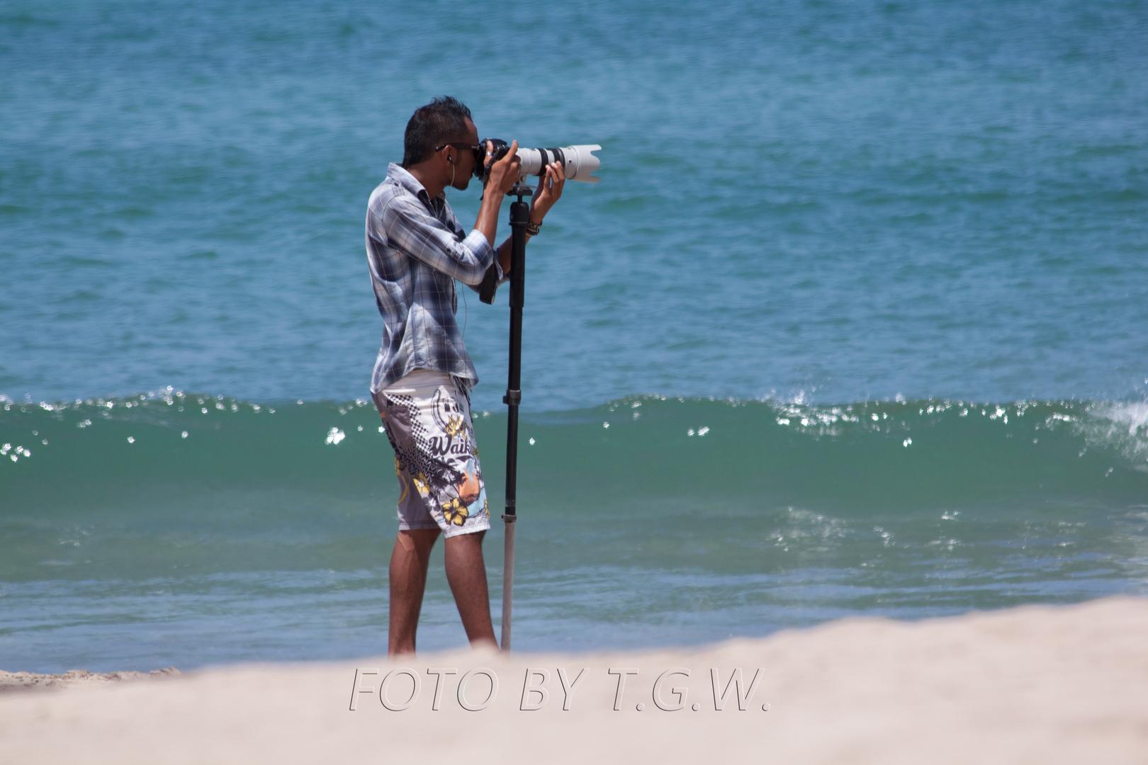 Ein Fotograf bei der Arbeit