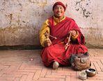 Ein freundlicher tibetischer Mönch ( Farbversion)