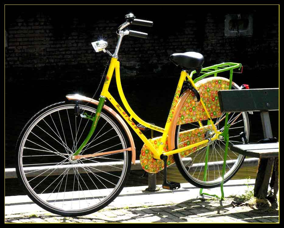 Ein fröhliches Fahrrad