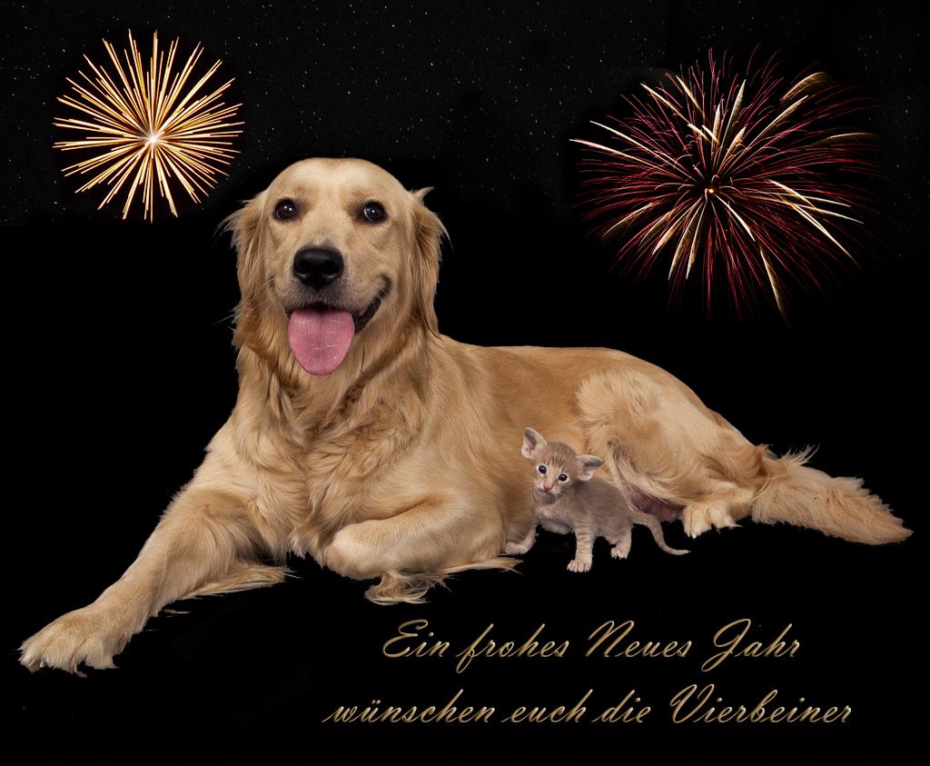 Frohes Neues Jahr Tiere