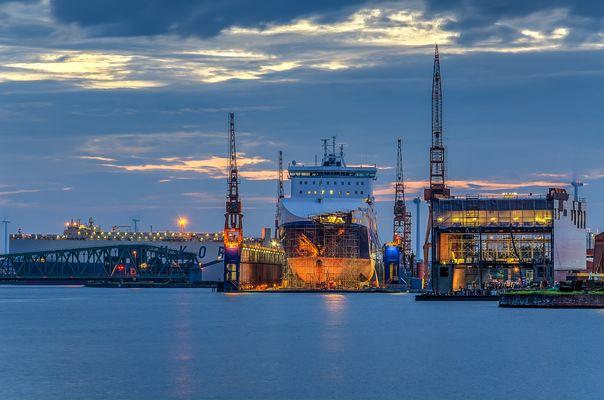 Ein früher Morgen im Hafen