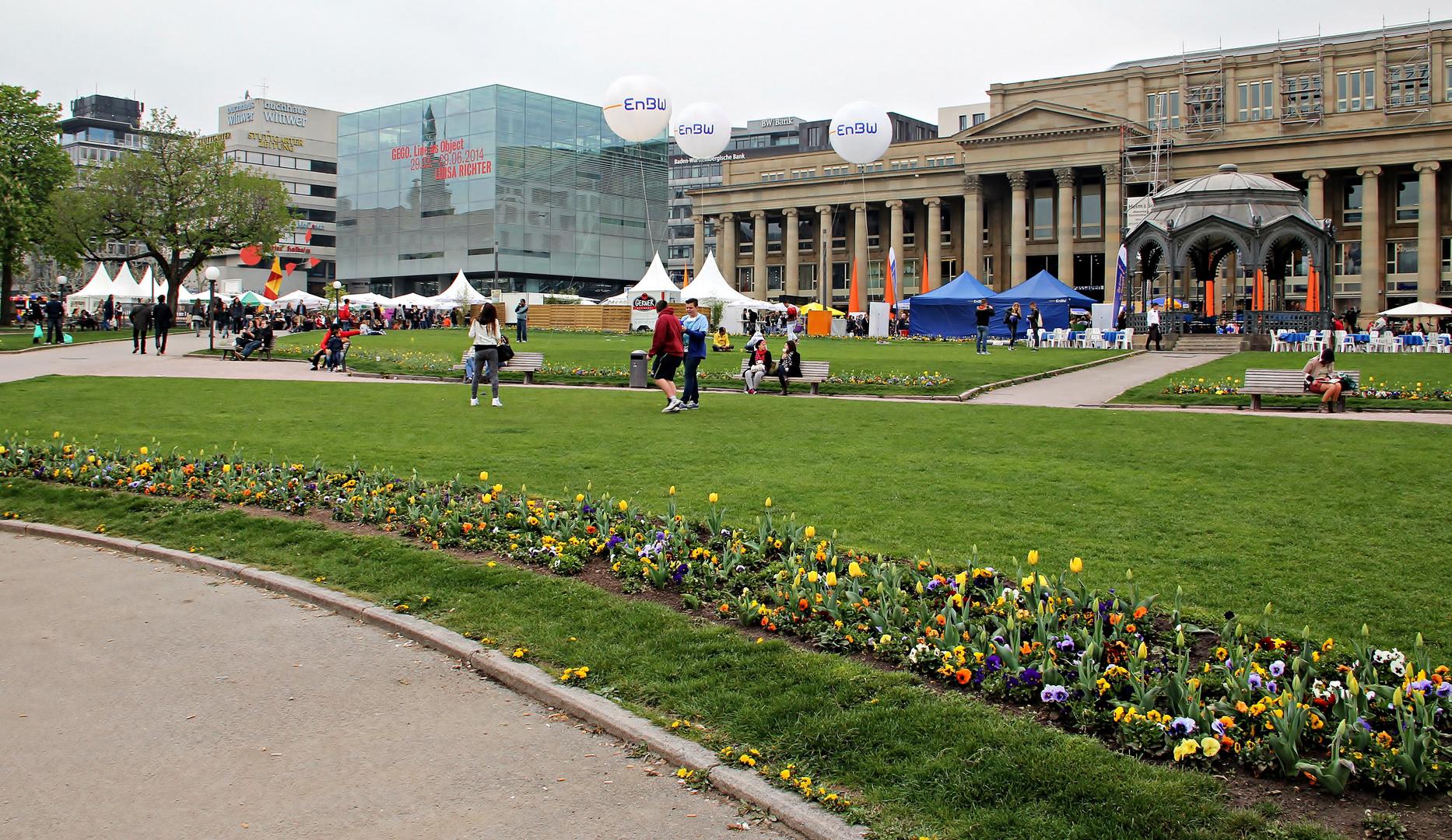 ein Frühlingstag in der Stuttgarter-City