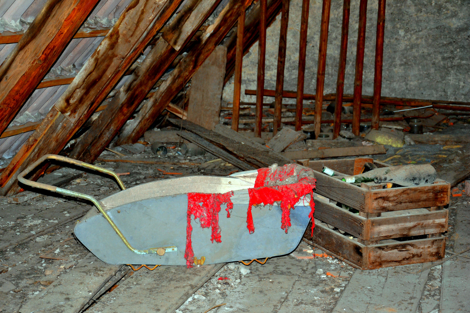 ein Fund auf einem Dachboden