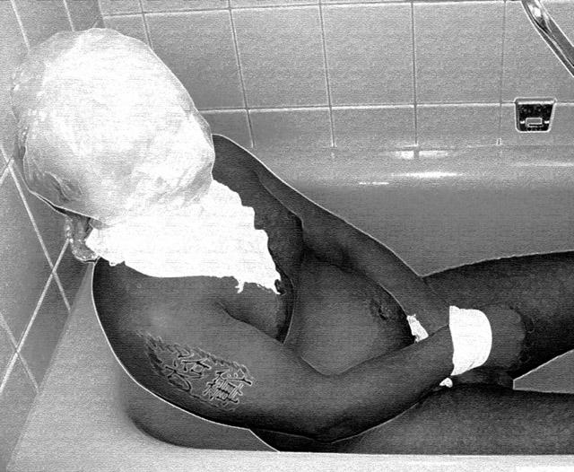 Ein gefangener in meinem Bad...