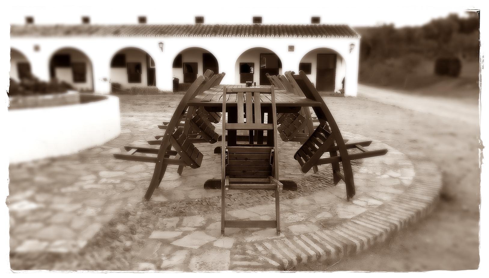 Ein gemütlicher Platz auf der Hacienda